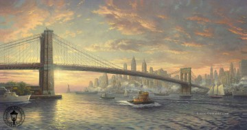 Landschaft Werke - The Spirit of New York Thomas Kinkade Seekuh